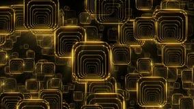 Quadrati di caduta dorati illustrazione vettoriale
