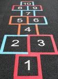 Quadrati di Hopscotch Immagini Stock Libere da Diritti