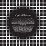 Quadrati di illusione ottica con area di testo Fotografie Stock Libere da Diritti