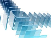 Quadrati di vetro Illustrazione Vettoriale
