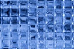 Quadrati di vetro blu Immagini Stock Libere da Diritti