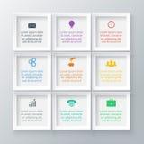 Quadrati di vettore per infographic Fotografia Stock Libera da Diritti