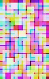 Quadrati digitali chiari Immagini Stock