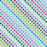 Quadrati disordinati del reticolo multicolori Fotografia Stock