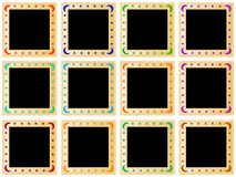 Quadrati dorati colorati Fotografia Stock Libera da Diritti