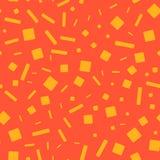 Quadrati e bastoni gialli su fondo arancio illustrazione di stock