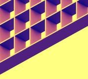 Quadrati geometrici del modello di ritmo e fondo giallo Immagini Stock Libere da Diritti