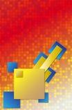 Quadrati gialli e blu Immagine Stock