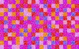 Quadrati a griglia floreali Immagini Stock Libere da Diritti