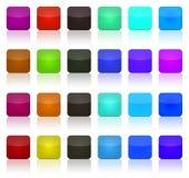 Quadrati multicolori del tasto Fotografia Stock Libera da Diritti