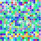Quadrati multicolori su un fondo bianco royalty illustrazione gratis