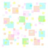 Quadrati pastelli illustrazione di stock
