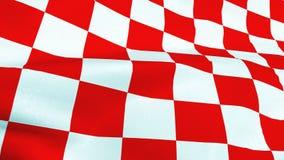 Quadrati rossi e bianchi croati che ondeggiano bandiera fotografie stock