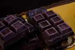 Quadrati scuri di choco Fotografia Stock