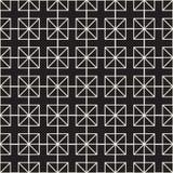 Quadrati senza cuciture del modello Priorità bassa astratta di vettore Struttura lineare geometrica alla moda Immagini Stock Libere da Diritti