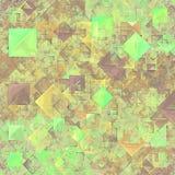 Quadrati trasparenti verdi astratti Fotografia Stock Libera da Diritti