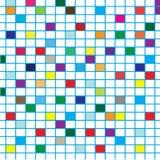 Quadrati variopinti con le righe Fotografie Stock