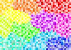 Quadrati variopinti messi nei color field differenti Immagini Stock
