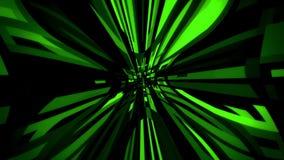 Quadrati verdi di Digital con il fondo del ciclo di distorsione VJ del filo di ordito video d archivio