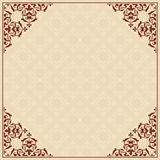 vector background with ornament in corners Stock Image