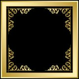 Quadratic frame with ornament - gold and black vector background. Quadratic frame with ornament - gold and black vector  background Royalty Free Stock Photography