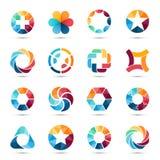 Quadratische Basis Kreiszeichen und -symbole Lizenzfreie Stockfotografie