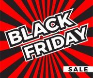 Quadratische Fahne schwarzen Freitag-Verkaufs lizenzfreie abbildung