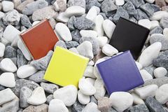 Quadratische Farben Stockbild