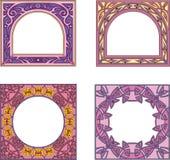 Quadratische Felddekorationen Stockbilder