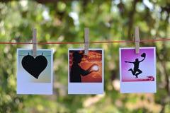 Quadratische Fotokarten stockfotos