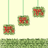 Quadratische Grasbälle Stockbild