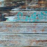 Quadratische hölzerne Planke des Azurblaus und des Brauns ummauern Beschaffenheit Lizenzfreies Stockbild