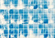 Quadratische helle blaue Marmorpapierbeschaffenheit Stockbilder