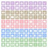 quadratische Ikone 100 Stockfotos