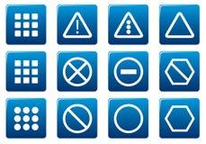 Quadratische Ikonen des Geräts eingestellt. lizenzfreie abbildung