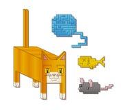 Quadratische Katze Stockfoto