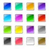 Quadratische Knöpfe Lizenzfreie Stockbilder