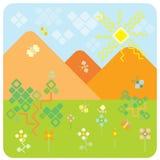 Quadratische Landschaft Lizenzfreie Stockbilder