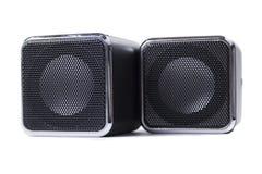 Quadratische Lautsprecher lizenzfreies stockbild
