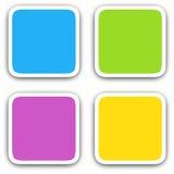 Quadratische leere Ikonen Stockfotos