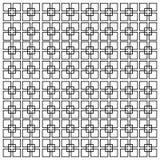 Quadratische Linien des Vektors auf einem weißen Hintergrund Minimalistic-Art lizenzfreie abbildung
