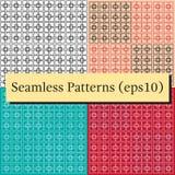 Quadratische Linien Muster des Vektors auf Hintergrund Minimalistic-Art lizenzfreie abbildung