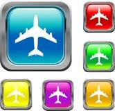 Quadratische Luft-Flugzeug-Tasten Stockfoto