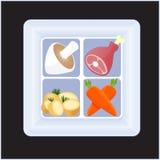 Quadratische Mahlzeit 1 Stockfoto