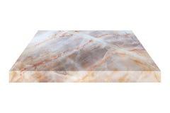 quadratische Marmorplatte lokalisiert auf Weiß Stockbild