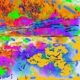 Quadratische mehrfarbige Platten Stockbild