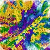 Quadratische mehrfarbige Platten Stockfotos