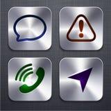 Quadratische moderne APP-Ikonen. lizenzfreie abbildung