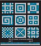 Quadratische Mosaikmusterhintergründe eingestellt Lizenzfreie Stockfotografie