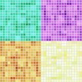Quadratische Muster des Mosaiks Stockfotos